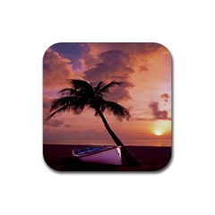 Sunset At The Beach Drink Coasters 4 Pack (Square)