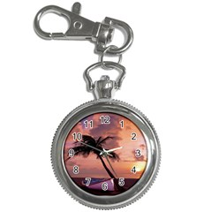 Sunset At The Beach Key Chain Watch