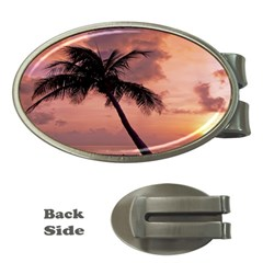 Sunset At The Beach Money Clip (oval)