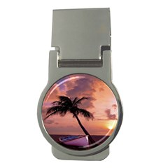 Sunset At The Beach Money Clip (Round)