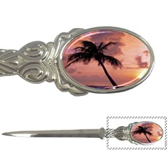 Sunset At The Beach Letter Opener