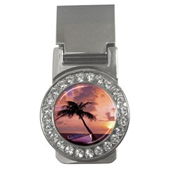 Sunset At The Beach Money Clip (CZ)