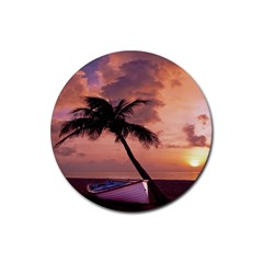 Sunset At The Beach Drink Coasters 4 Pack (Round)