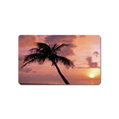 Sunset At The Beach Magnet (Name Card)