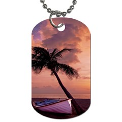 Sunset At The Beach Dog Tag (One Sided)