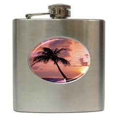 Sunset At The Beach Hip Flask