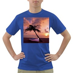 Sunset At The Beach Men s T-shirt (Colored)
