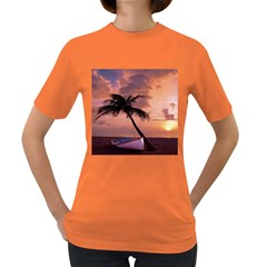 Sunset At The Beach Women s T-shirt (Colored)