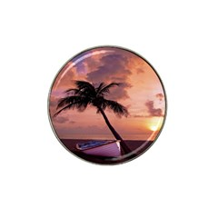Sunset At The Beach Golf Ball Marker 4 Pack (for Hat Clip)