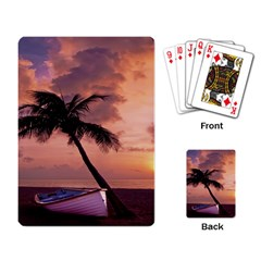 Sunset At The Beach Playing Cards Single Design