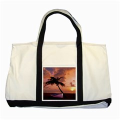 Sunset At The Beach Two Toned Tote Bag