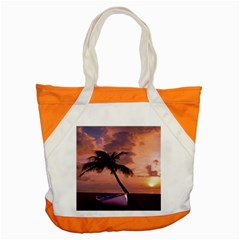 Sunset At The Beach Accent Tote Bag