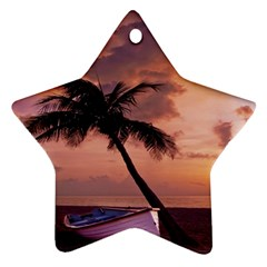 Sunset At The Beach Star Ornament (Two Sides)