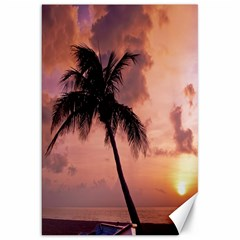 Sunset At The Beach Canvas 20  x 30  (Unframed)