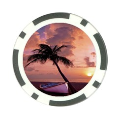 Sunset At The Beach Poker Chip