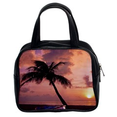 Sunset At The Beach Classic Handbag (Two Sides)