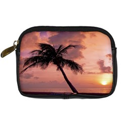 Sunset At The Beach Digital Camera Leather Case