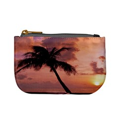 Sunset At The Beach Coin Change Purse