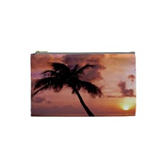 Sunset At The Beach Cosmetic Bag (Small)
