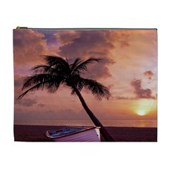 Sunset At The Beach Cosmetic Bag (XL)