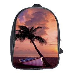 Sunset At The Beach School Bag (Large)
