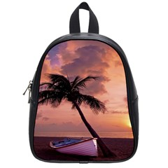 Sunset At The Beach School Bag (small)