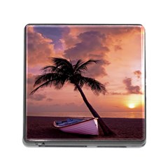 Sunset At The Beach Memory Card Reader With Storage (square)
