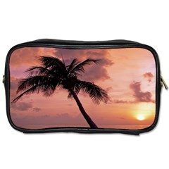 Sunset At The Beach Travel Toiletry Bag (One Side)
