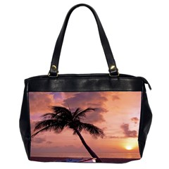 Sunset At The Beach Oversize Office Handbag (two Sides)