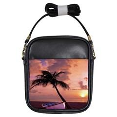 Sunset At The Beach Girl s Sling Bag