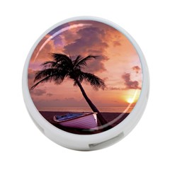 Sunset At The Beach 4 Port Usb Hub (two Sides)