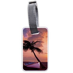 Sunset At The Beach Luggage Tag (Two Sides)