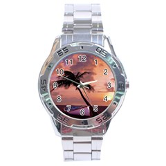 Sunset At The Beach Stainless Steel Watch