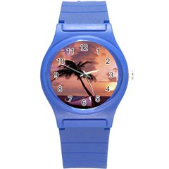 Sunset At The Beach Plastic Sport Watch (Small)