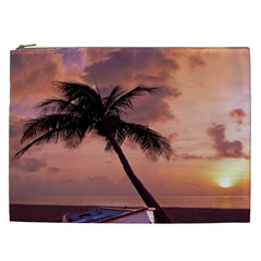 Sunset At The Beach Cosmetic Bag (XXL)
