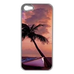 Sunset At The Beach Apple iPhone 5 Case (Silver)