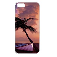 Sunset At The Beach Apple Iphone 5 Seamless Case (white)