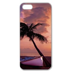 Sunset At The Beach Apple Seamless Iphone 5 Case (clear)