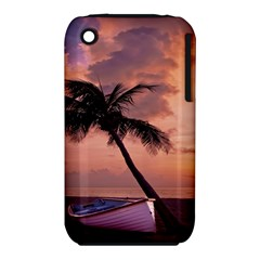 Sunset At The Beach Apple Iphone 3g/3gs Hardshell Case (pc+silicone)
