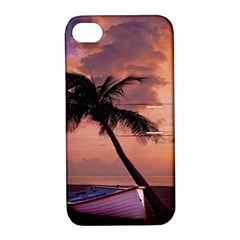 Sunset At The Beach Apple iPhone 4/4S Hardshell Case with Stand