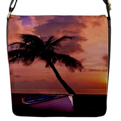 Sunset At The Beach Flap Closure Messenger Bag (Small)