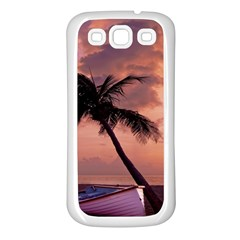 Sunset At The Beach Samsung Galaxy S3 Back Case (White)