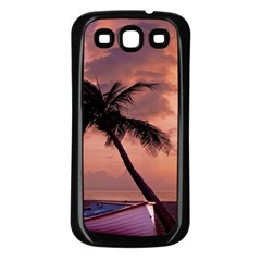 Sunset At The Beach Samsung Galaxy S3 Back Case (black)