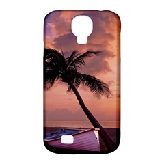 Sunset At The Beach Samsung Galaxy S4 Classic Hardshell Case (PC+Silicone)
