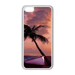 Sunset At The Beach Apple iPhone 5C Seamless Case (White)