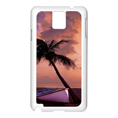Sunset At The Beach Samsung Galaxy Note 3 N9005 Case (White)