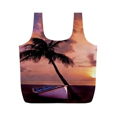 Sunset At The Beach Reusable Bag (M)