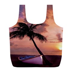 Sunset At The Beach Reusable Bag (L)
