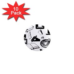 Books And Coffee 1  Mini Button Magnet (10 pack)