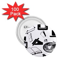 Books And Coffee 1.75  Button (100 pack)